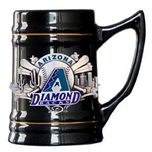 Arizona Diamondbacks Stein 18oz Black