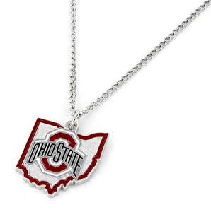 Ohio State Buckeyes Necklace State Design