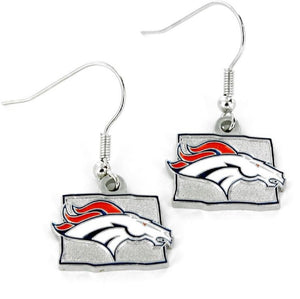 Denver Broncos Earrings State Design - Special Order