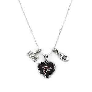Atlanta Falcons Necklace Charmed Sport Love Football - Special Order
