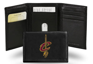 Cleveland Cavaliers Wallet Trifold Leather Embroidered - Special Order