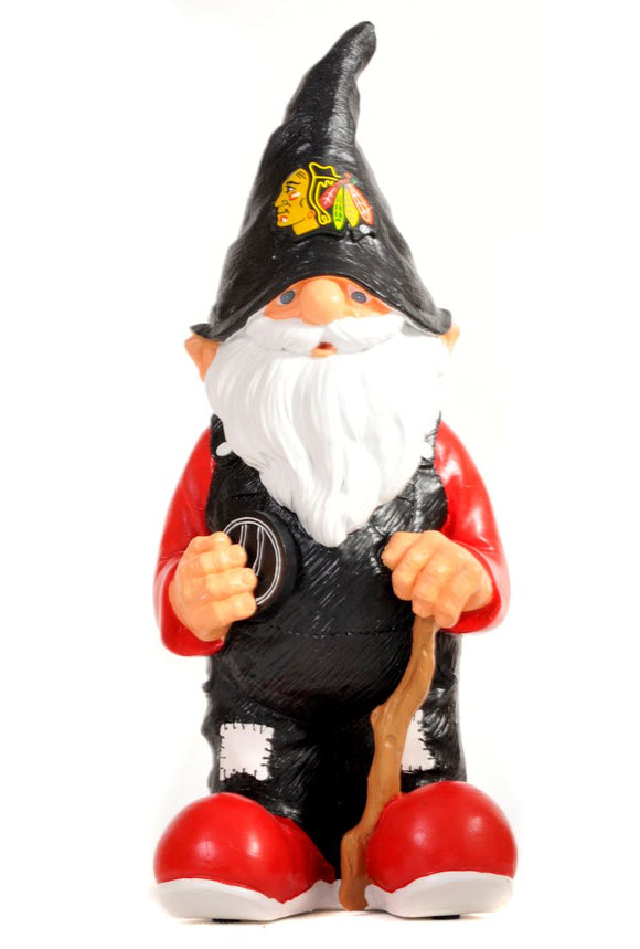 Chicago Blackhawks Garden Gnome 11 Inch Team - Special Order