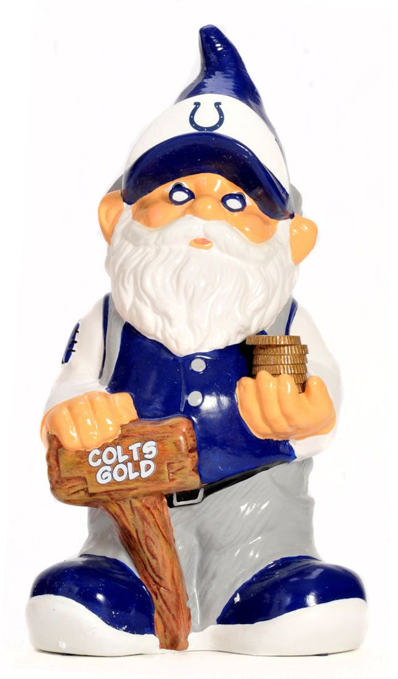 Indianapolis Colts Garden Gnome - Coin Bank