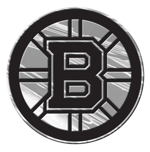 Boston Bruins Auto Emblem - Silver