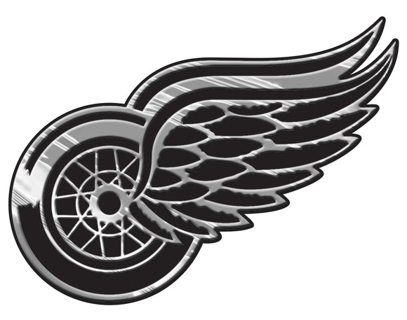 Detroit Red Wings Auto Emblem - Silver