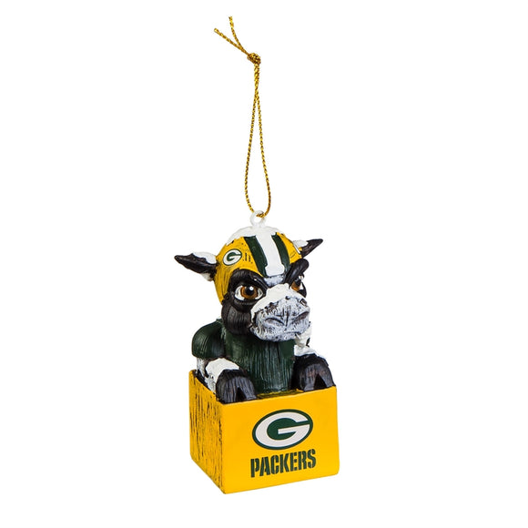Green Bay Packers Ornament Tiki Design - Special Order