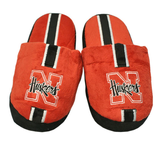 Nebraska Cornhuskers  Slippers - Youth 8-16 Stripe