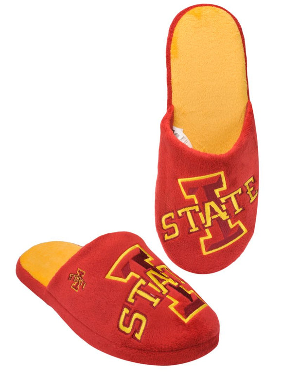 Iowa State Cyclones Slippers - Mens Big Logo