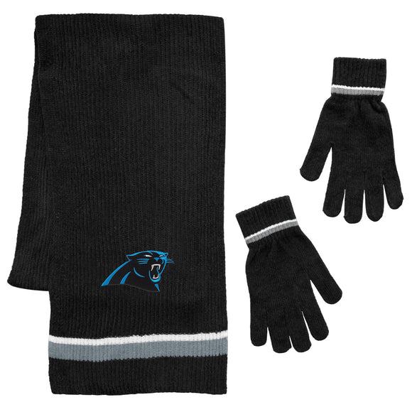 Carolina Panthers Scarf and Glove Gift Set Chenille