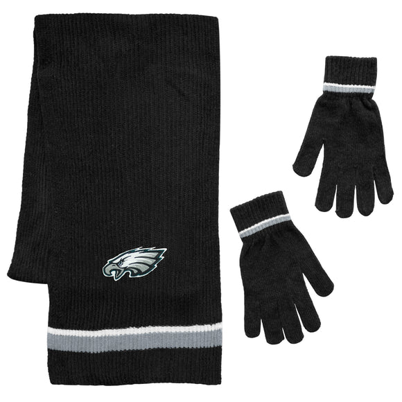 Philadelphia Eagles Scarf and Glove Gift Set Chenille