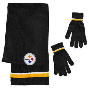 Pittsburgh Steelers Scarf and Glove Gift Set Chenille