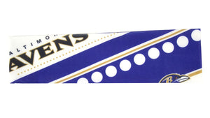 Baltimore Ravens Stretch Patterned Headband - Special Order
