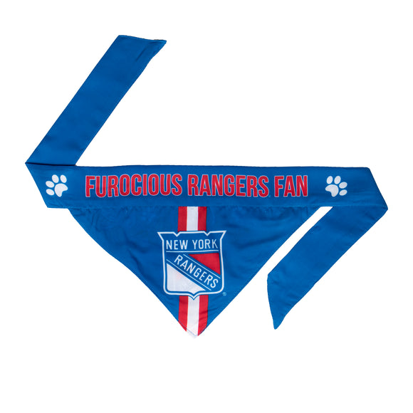 New York Rangers Pet Bandanna Size L - Special Order