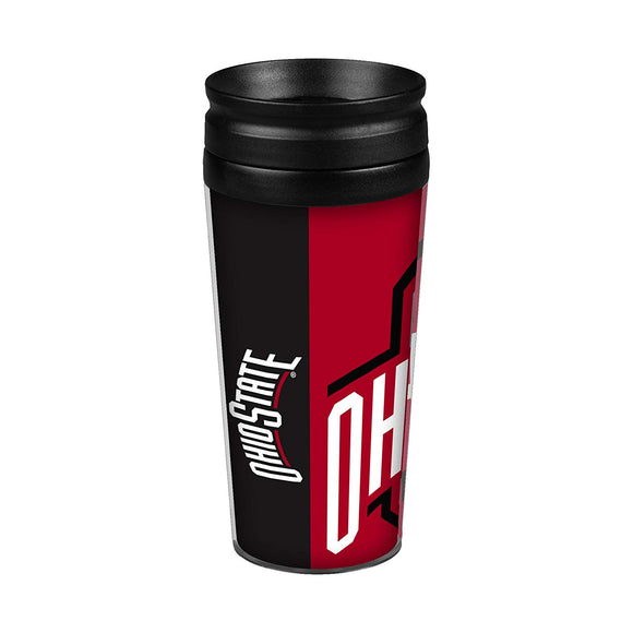 Ohio State Buckeyes Travel Mug 14oz Full Wrap Style Hype Design
