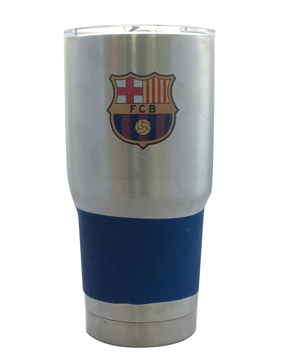 Barcelona Football Club Travel Tumbler 30oz Ultra Silver