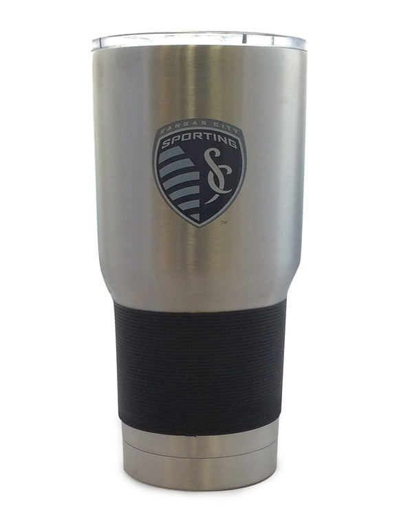 Sporting Kansas City Soccer Club Travel Tumbler 30oz Ultra Silver