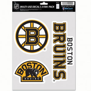 Boston Bruins Decal Multi Use Fan 3 Pack