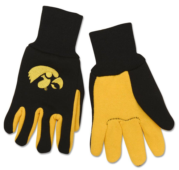 Iowa Hawkeyes Two Tone Gloves - Youth