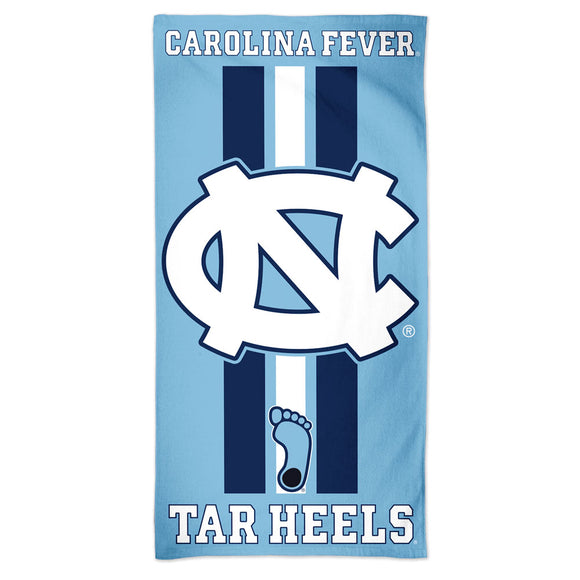 North Carolina Tar Heels Towel 30x60 Beach Style