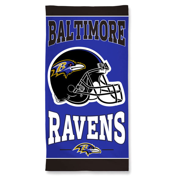 Baltimore Ravens Towel 30x60 Beach Style