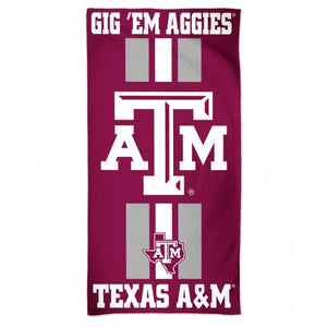 Texas A&M Aggies Towel 30x60 Beach Style