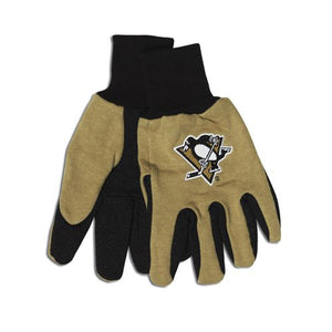 Pittsburgh Penguins Two Tone Gloves - Adult - Special Order