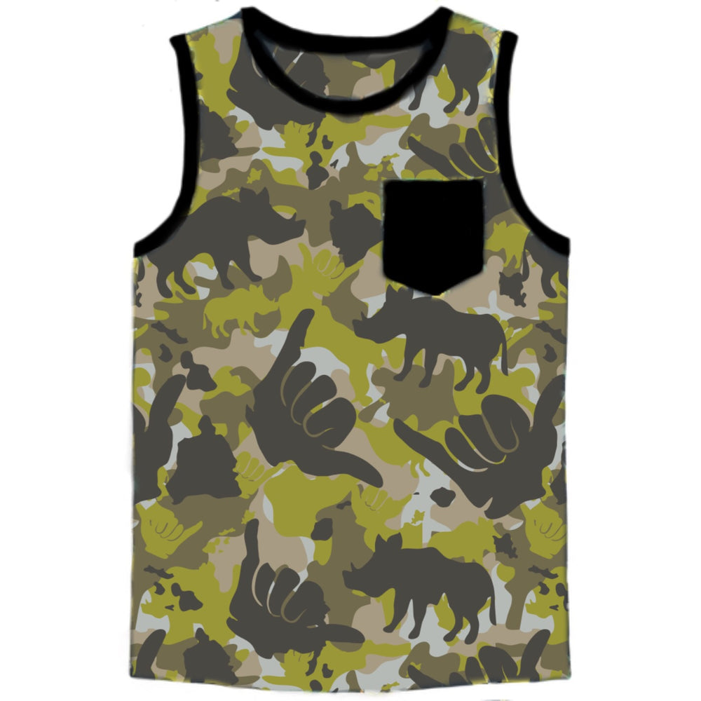 Boys Jersey Pocket Tank Camo