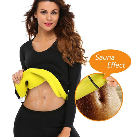 Neoprene Sauna Suit Top Long Sleeve For Weigth Loss