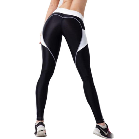 Slim Compression Leggings with Pocket Black & White