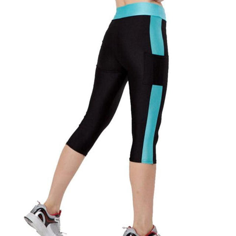 Capri Compression Quick Dry Leggings With Pocket For Phone