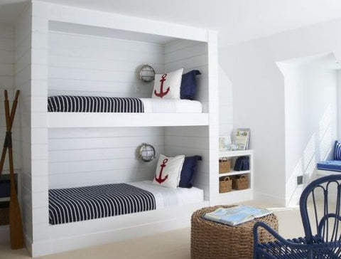 inspiration chambre enfant marin lits superposes