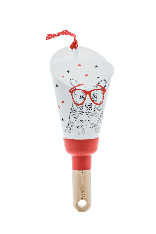 lampe polochon&cie ours lunettes rouge