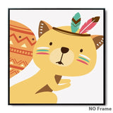 Affiches-posters-animaux-indiens-chambre-enfant