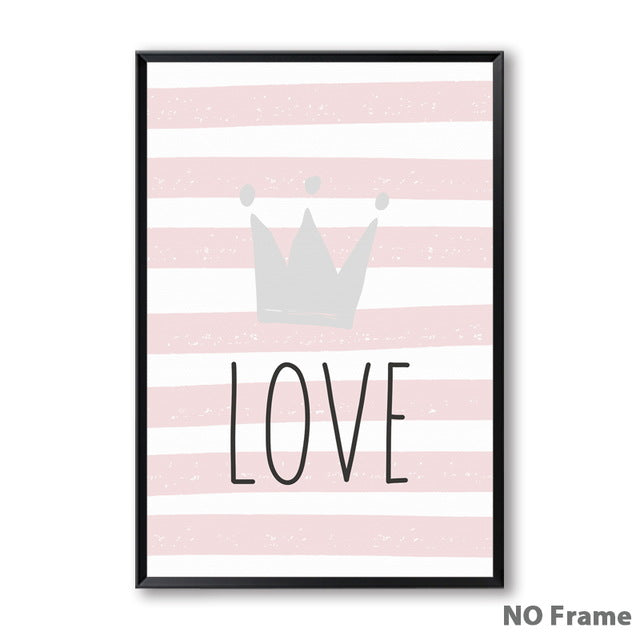 Affiche-poster-princesse-love-lapin-chambre-fille