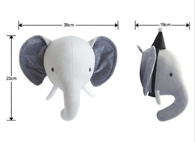 dimensions trophee elephant