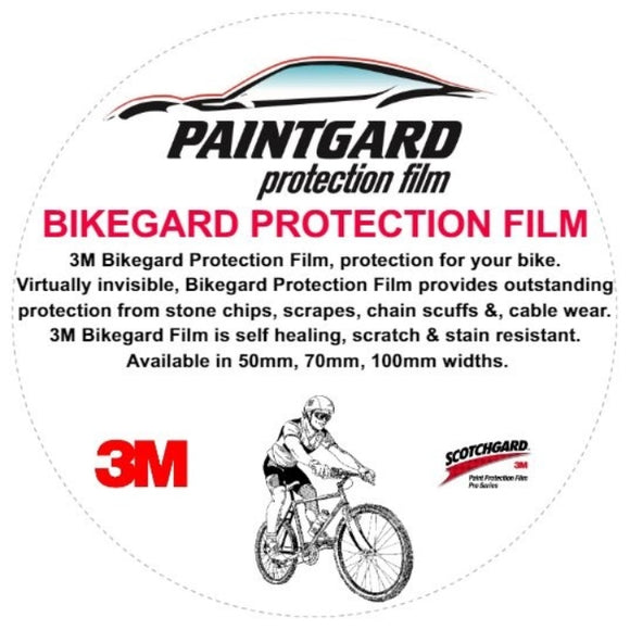 3M Bikegard Universal Paint Protection Film Roll 50mm x 5mtrs