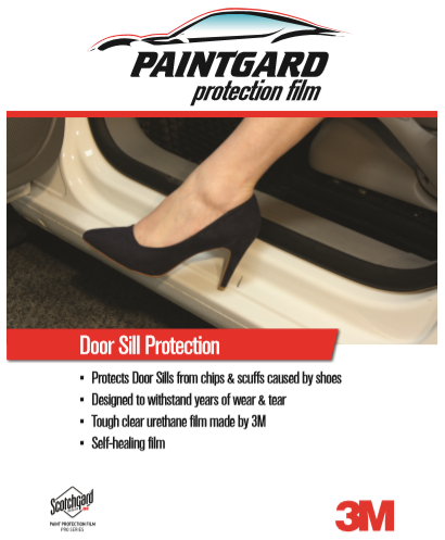 Paintgard 3M Door Sill Protection Clear Film