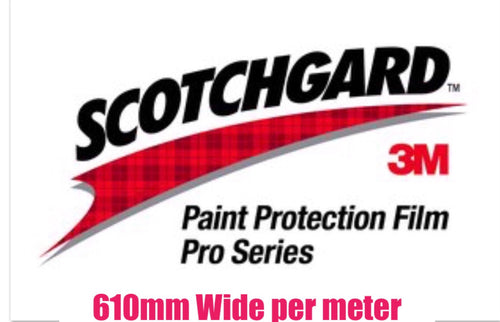 Paintgard 3M Pro Series Paint Protection Clear Film 610mm width per meter