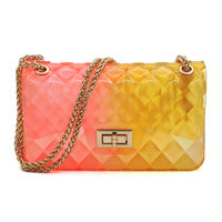 Quilt Embossed Multi Color Jelly Classic Shoulder Bag LGZ008-MT2 - Ace Handbag
