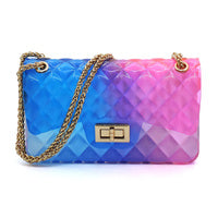 Quilt Embossed Multi Color Jelly Classic Shoulder Bag LGZ008-MT3 - Ace Handbag