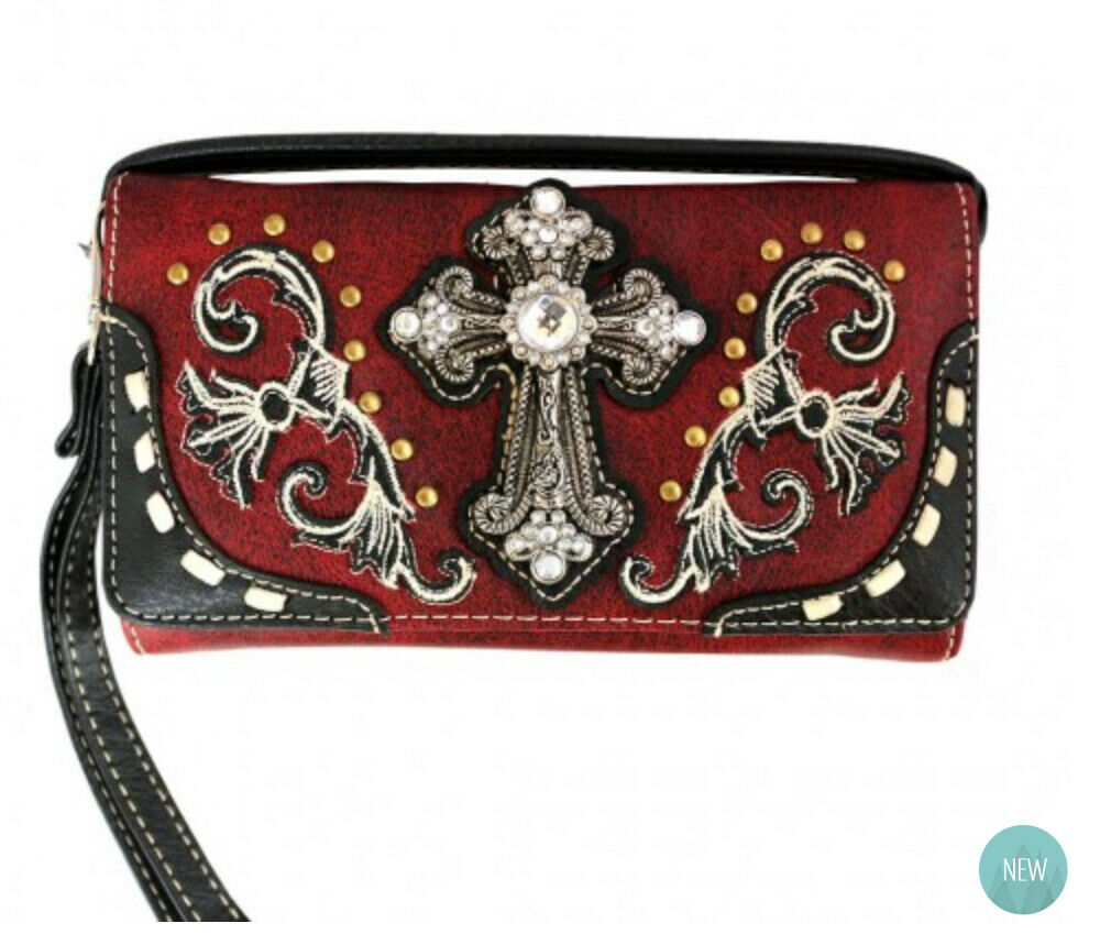 Western Cross Wallet Red - Ace Handbag