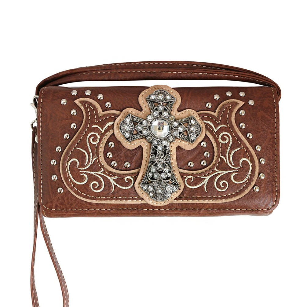 Western Cross Wallet Brown - Ace Handbag