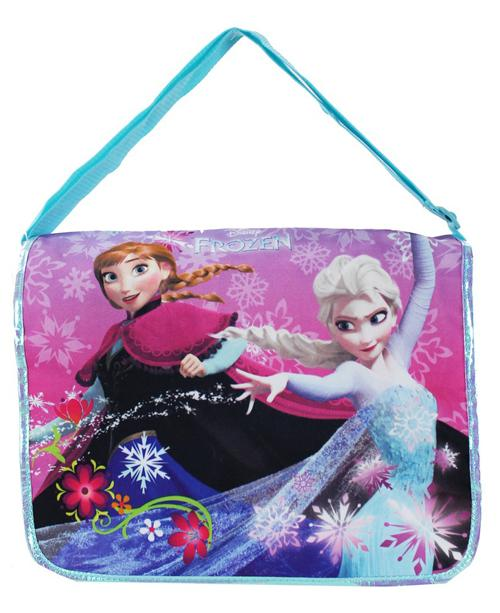 "Disney Frozen 16"" Large School Messenger Bag Elsa Anna - Ace Handbag"