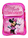 "Disney Minnie Mouse Backpack - Mega Star Pink 14"" Medium Girls School Book Bag - Ace Trading Co."