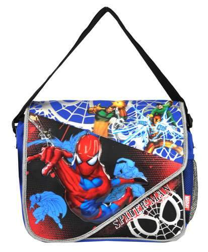 "The Amazing Spider-Man 16"" Large Messenger Bag Kids School - Ace Handbag"