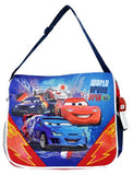 "Pixar Cars World Grand Prix Large 16"" Kids Messenger Bag - Ace Trading Co."