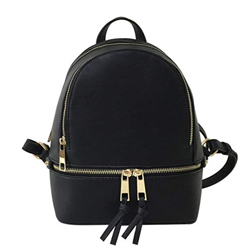 LP1082W Fashion Backpack BK - Ace Handbag