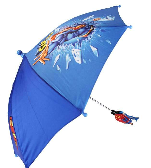 Superman Action Kids UMBRELLA - GIFT UMBRELLA 3D HANDLE - Ace Handbag