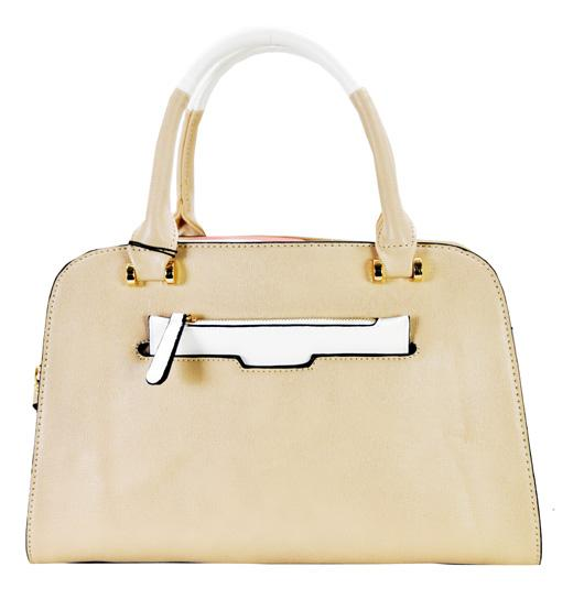 Slip In Wallet Design Fashion Tote Taupe - Ace Handbag