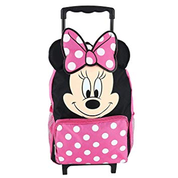 "Disney Minnie Mouse Roller Backpack 12"" Small Rolling - Ace Trading Co."